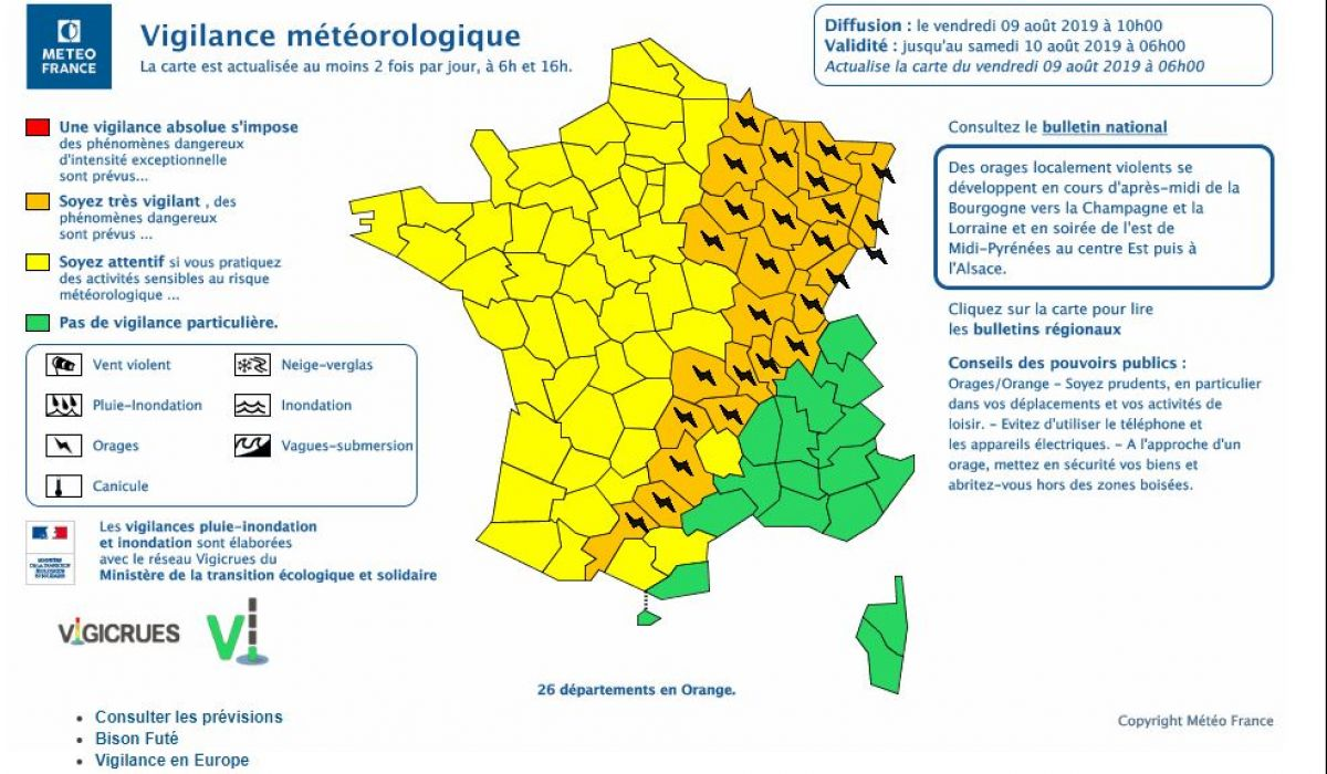 3 départements d'Occitanie en alerte orange