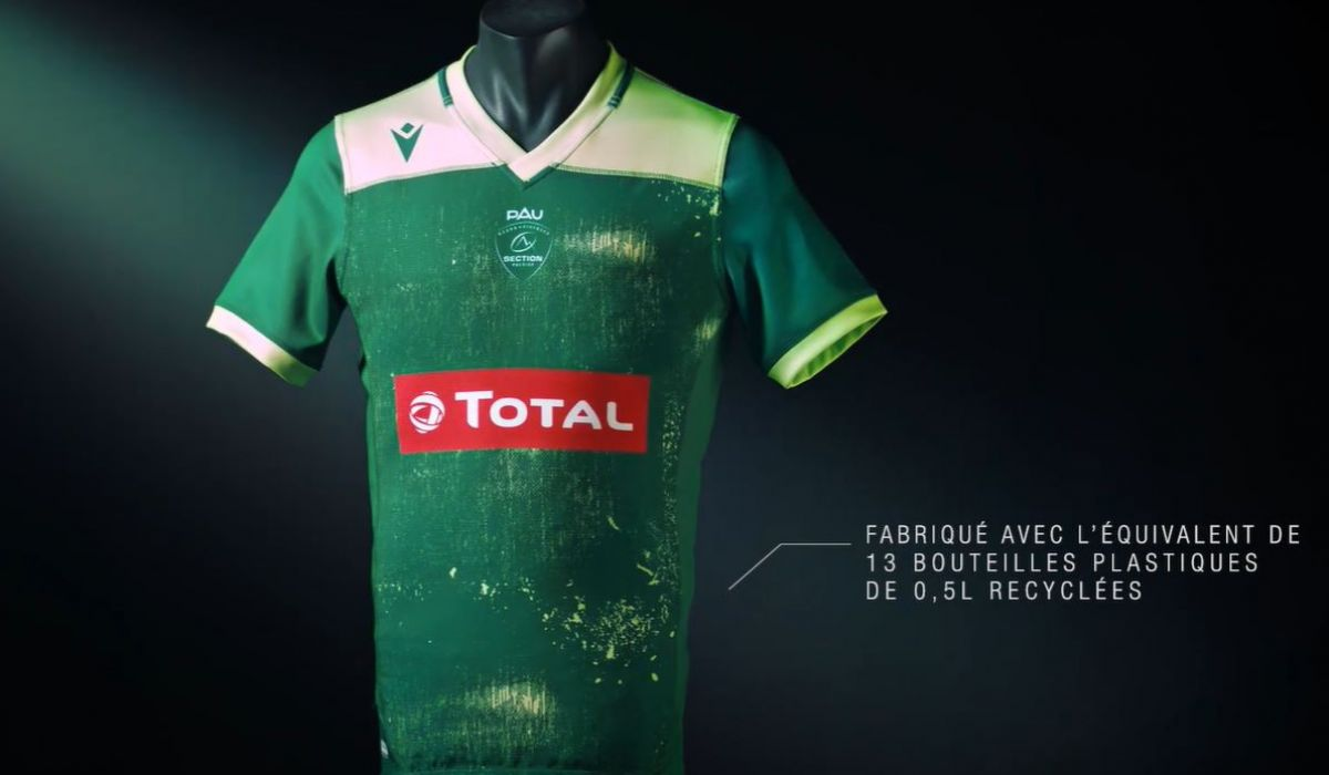 Un maillot 100% recyclable pour les supporters de la Section Paloise